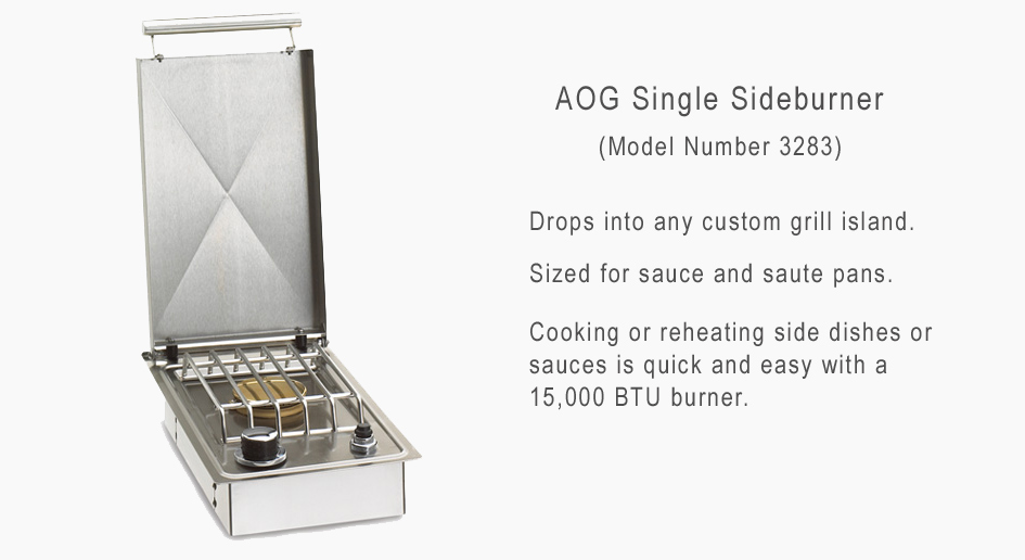 AOG Singel Side Burner