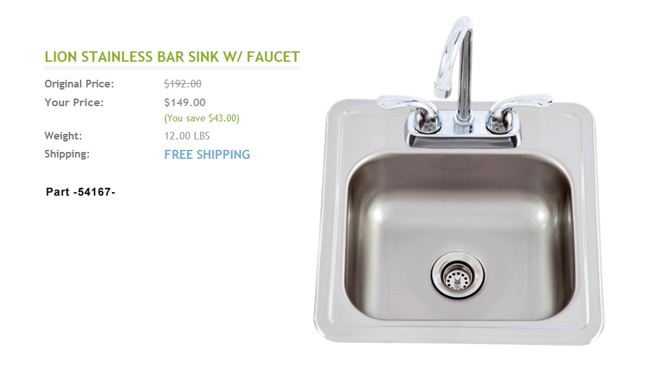 Nice Stainless Steel Grill Island Sink ^ Click To Enlarge And See Details ^