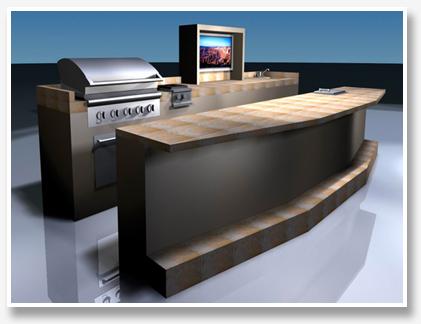 BBQ Island 3D Design