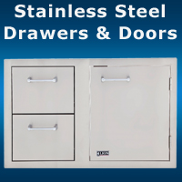 Stainless Steel Drawers and Door San Diego