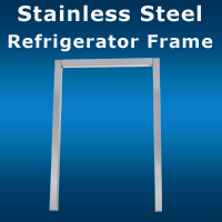Stainless Steel Refrigerator Frame San Diego
