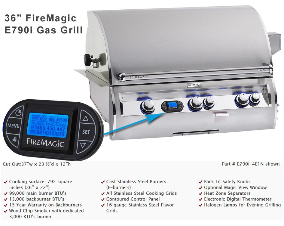 36in. echelon Fire Magic Grill