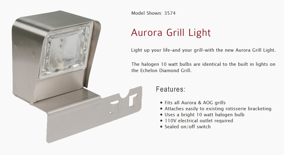 American outdoor grill san diego bbq island grillsparts accessories aog aurora halogen interior grill light aloadofball Choice Image