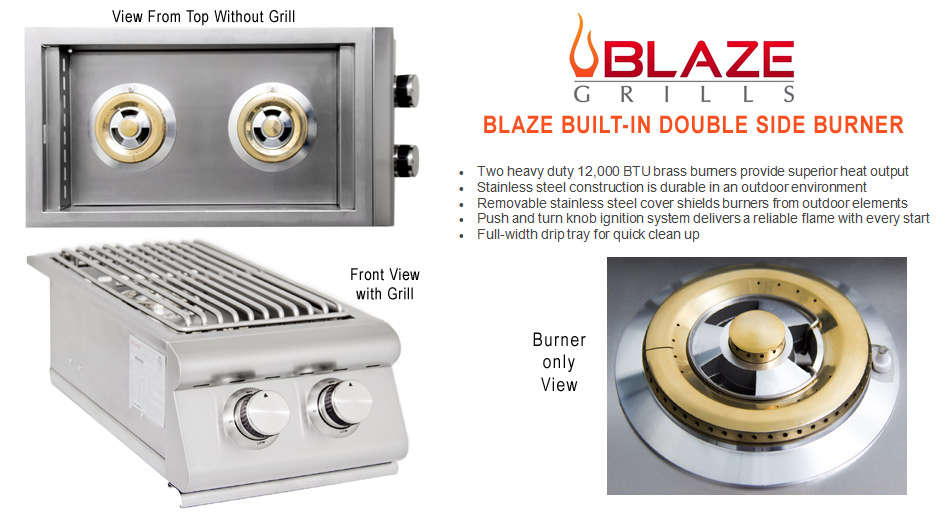 Blaze Built-In Double Burner