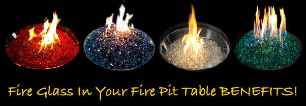 benefits of using fire glass in your fire pit
