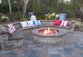Outdoor Fireplaces and Fire Pits Bring a Warm Relaxing Feeling To Your Backyard Patio Area