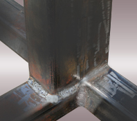 Fully Welded BBQ Island Frame Joints
