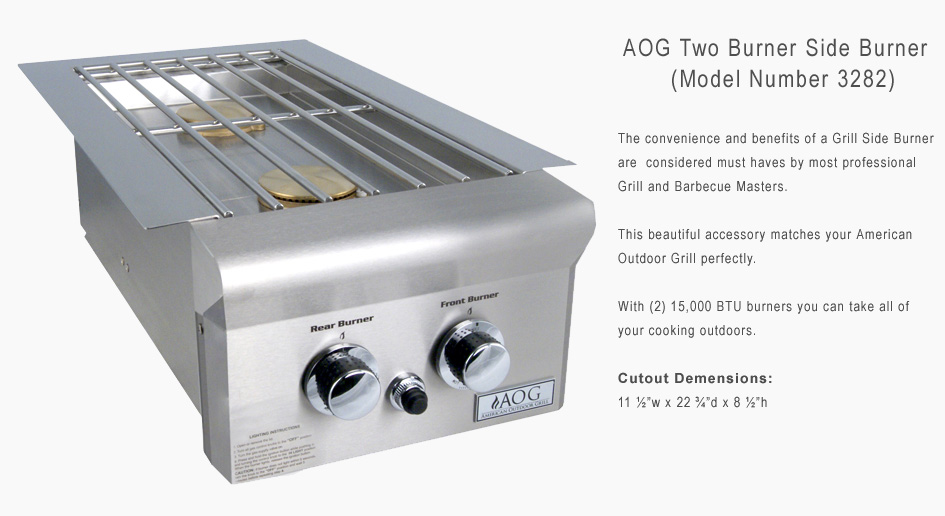 AOG Double Side Burner