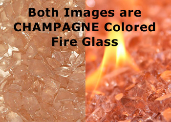 Fire Glass San Diego Color under Flame
