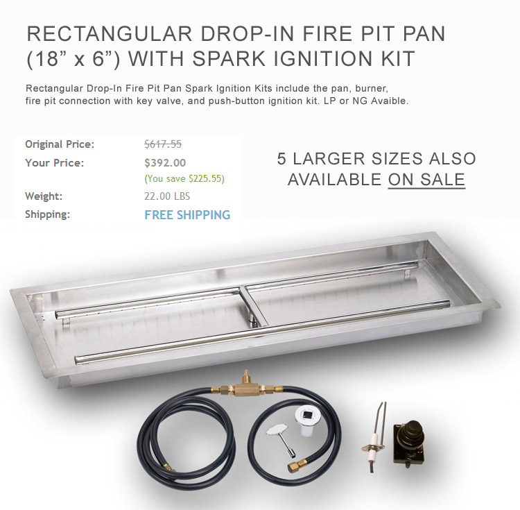Rectangle Drop-In Burner