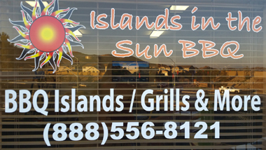 Showroom Window at Islands in the Sun BBQ