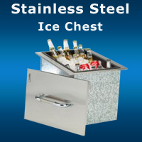 Grill Island Stainless Steel Ice Chest San Diego