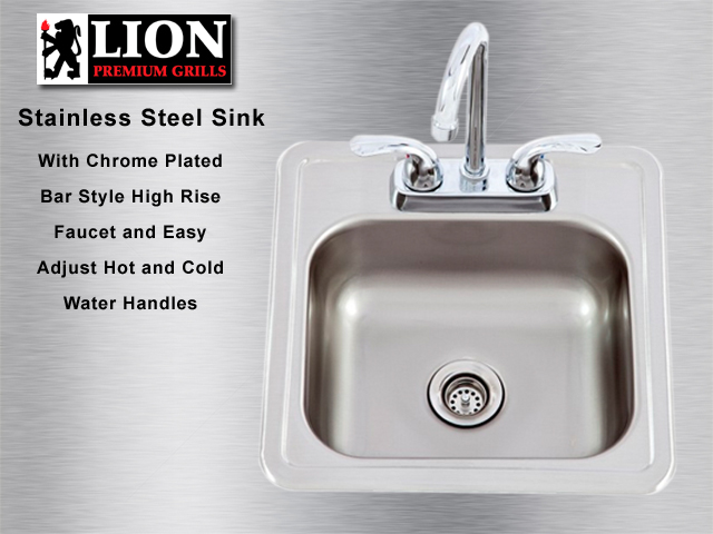 BBQ Island Stainless Steel Sink