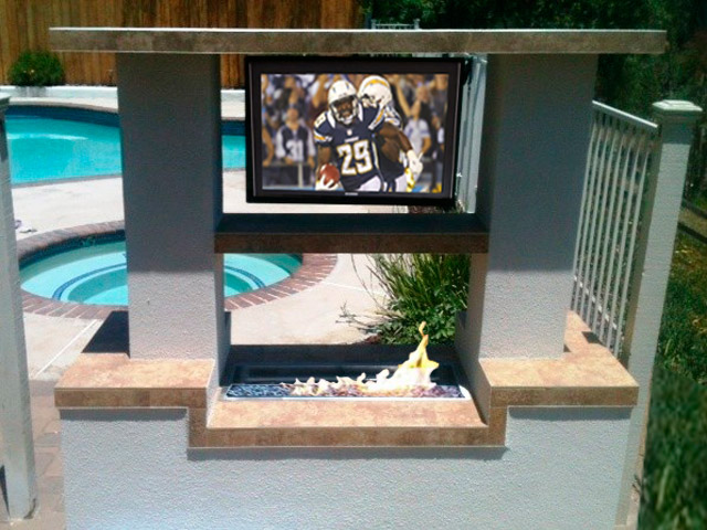 Fire Pit Entertainment Center