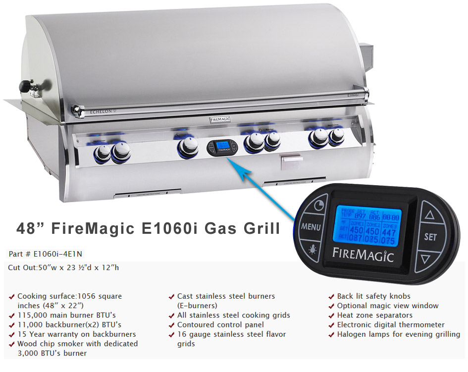 48in. Echelon Fire Magic Grill