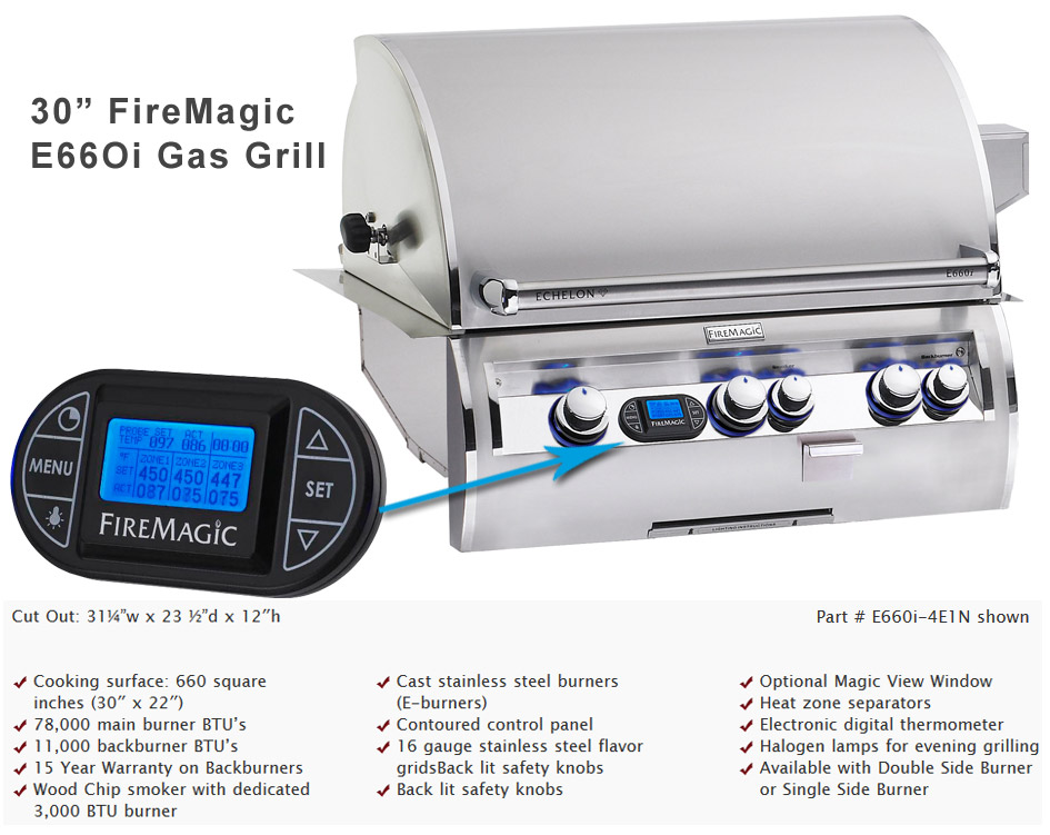 30in. Echelon Fire Magic Grill