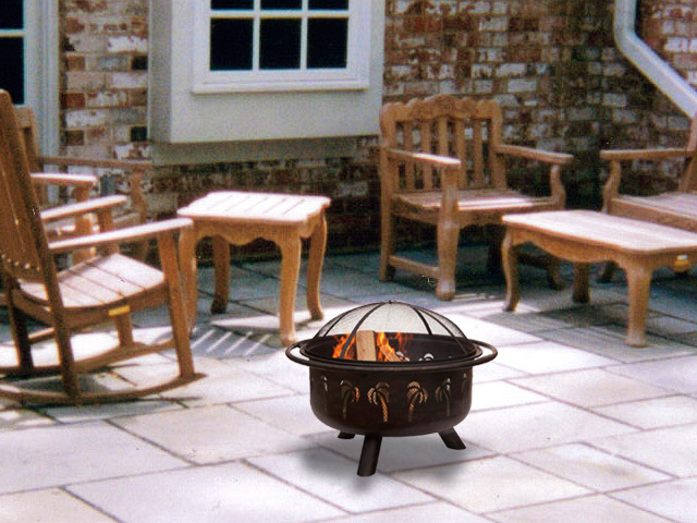 Homey Wood Burning Fire Pit
