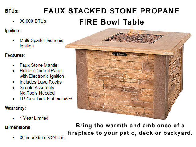 Faux Stacked Stone 36
