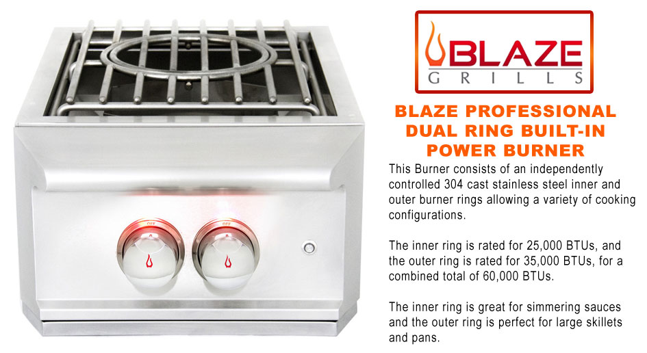 Blaze Dual Ring Pro Power Burner