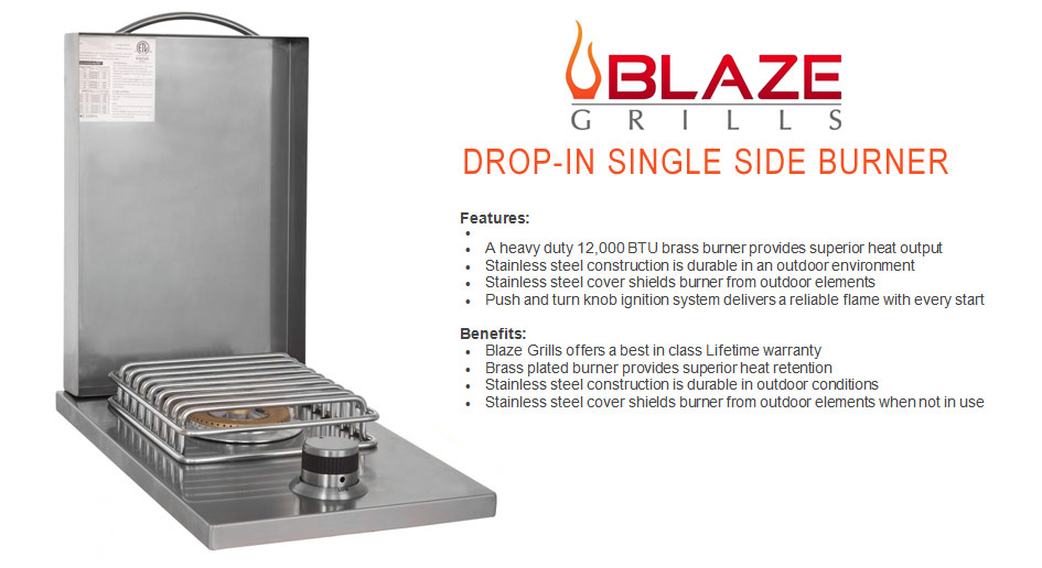 Blaze Drop-In Single Side Burner