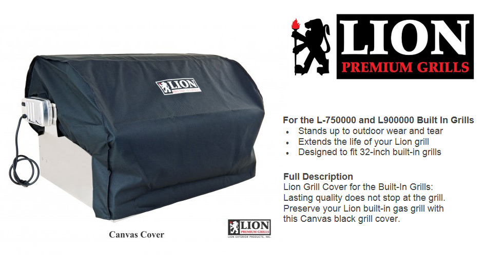 Lion Canvas Grill Cover