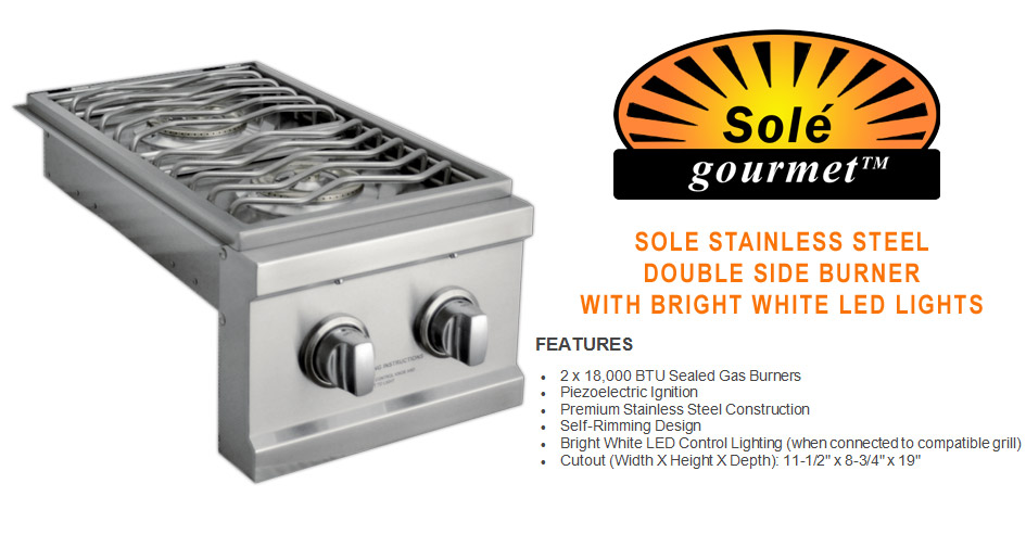 Sole Gourmet Double Side Burner
