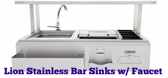 Lion Stainless Bar Sinks w/ Faucet For Your Outdoor Kitchen