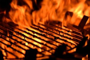 A Charcoal BBQ Grill