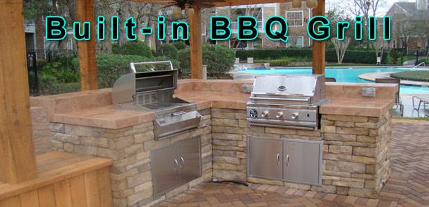inbuilt bbq how to build